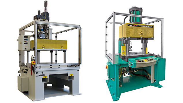 TOX®-2-Column Press and a TOX®-4-Column Press